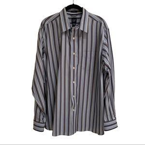 GAP Striped Button-Down: Size: L